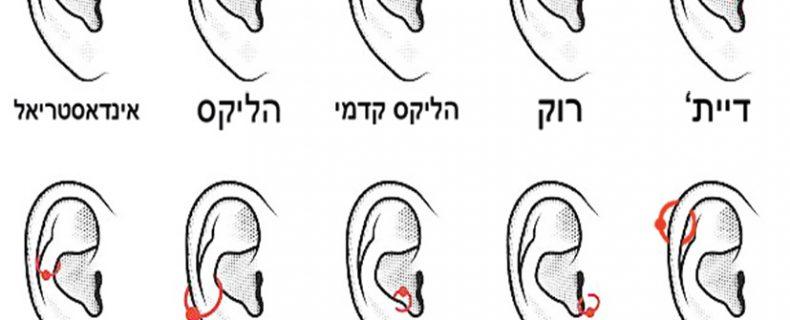 סוגי פירסינג באזניים